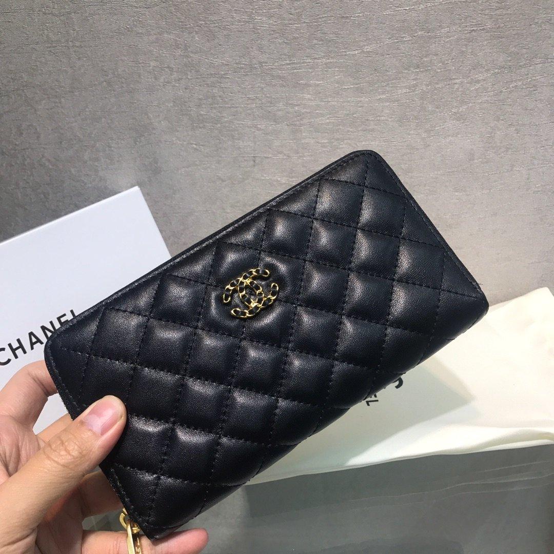 Chanel小香新款菱格长款钱包(图1)
