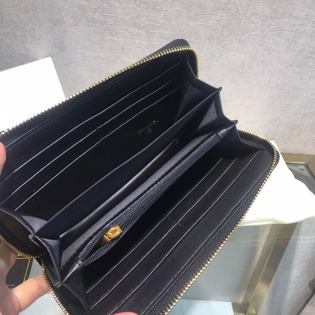 Chanel小香新款菱格长款钱包(图4)