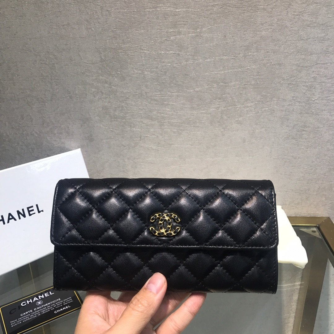 Chanel小香新款菱格长款钱包(图2)