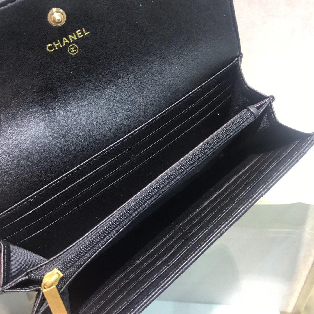 Chanel小香新款菱格长款钱包(图6)