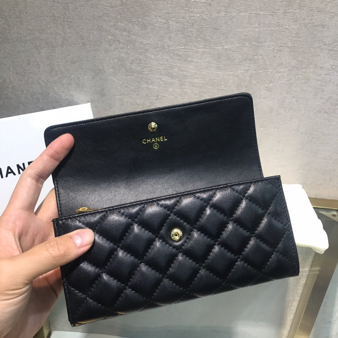 Chanel小香新款菱格长款钱包(图5)