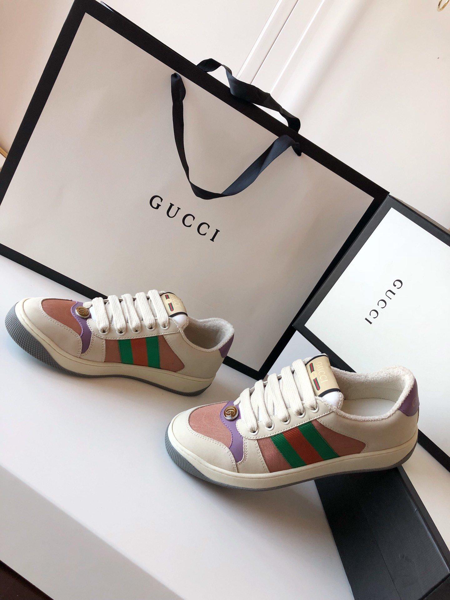 Gucci/Screener系列运动鞋代购版本 古琦系列做旧小脏鞋(图14)
