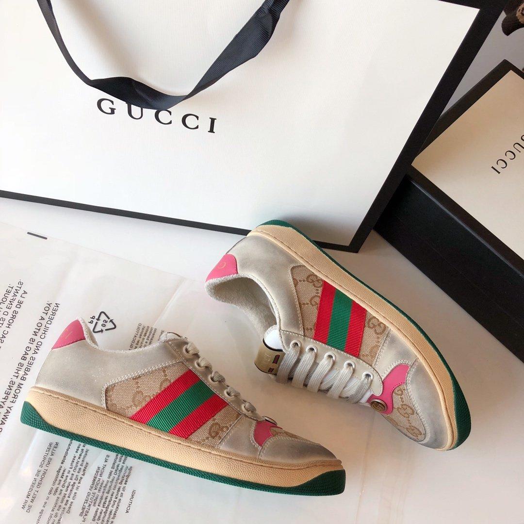 Gucci/Screener系列运动鞋代购版本 古琦系列做旧小脏鞋(图12)