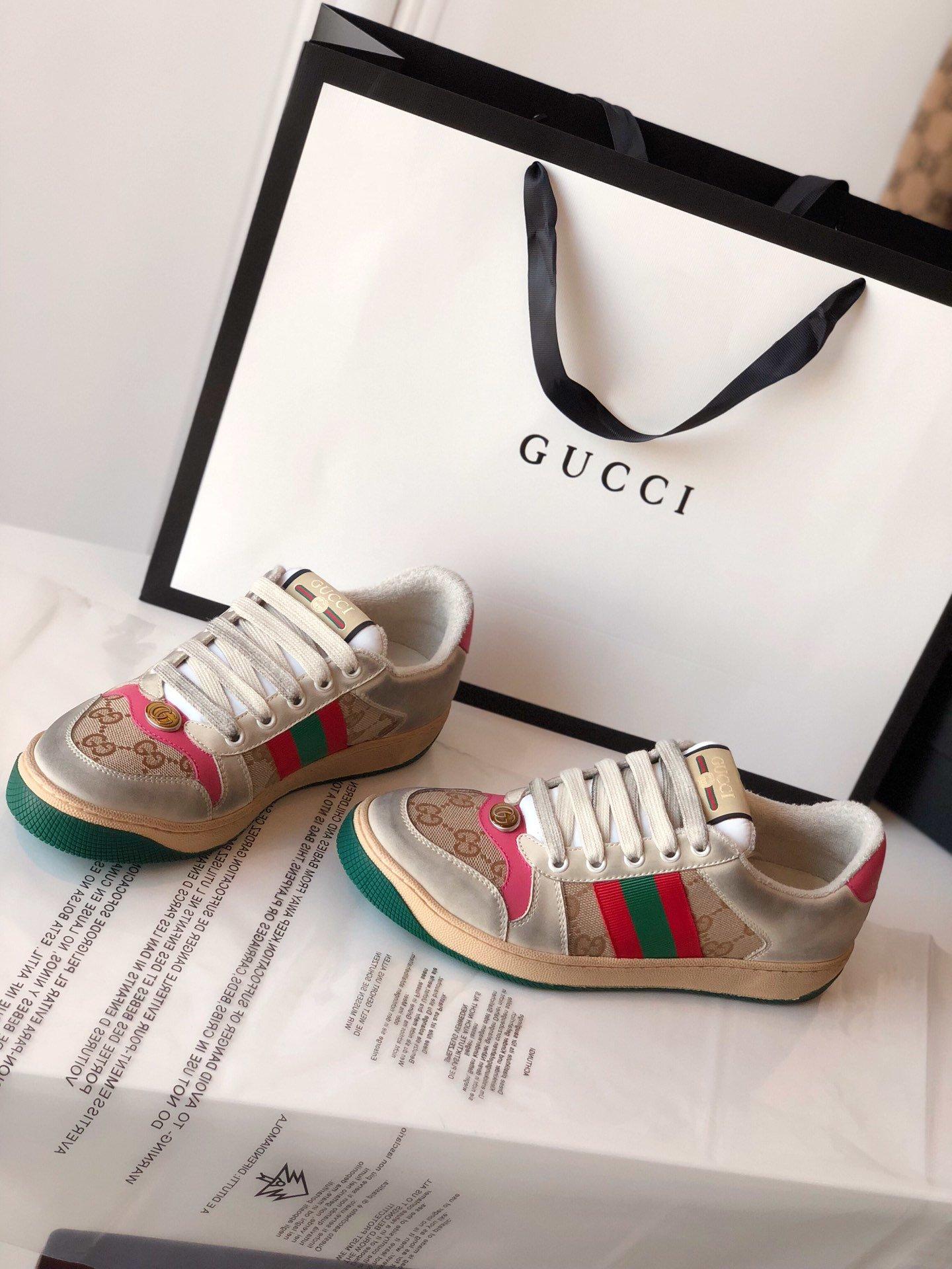 Gucci/Screener系列运动鞋代购版本 古琦系列做旧小脏鞋(图13)