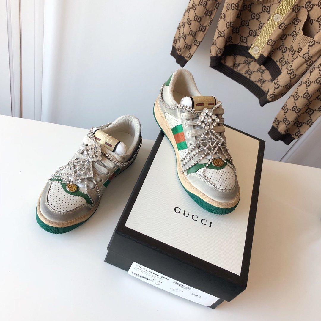 Gucci/Screener系列运动鞋代购版本 古琦系列做旧小脏鞋(图17)