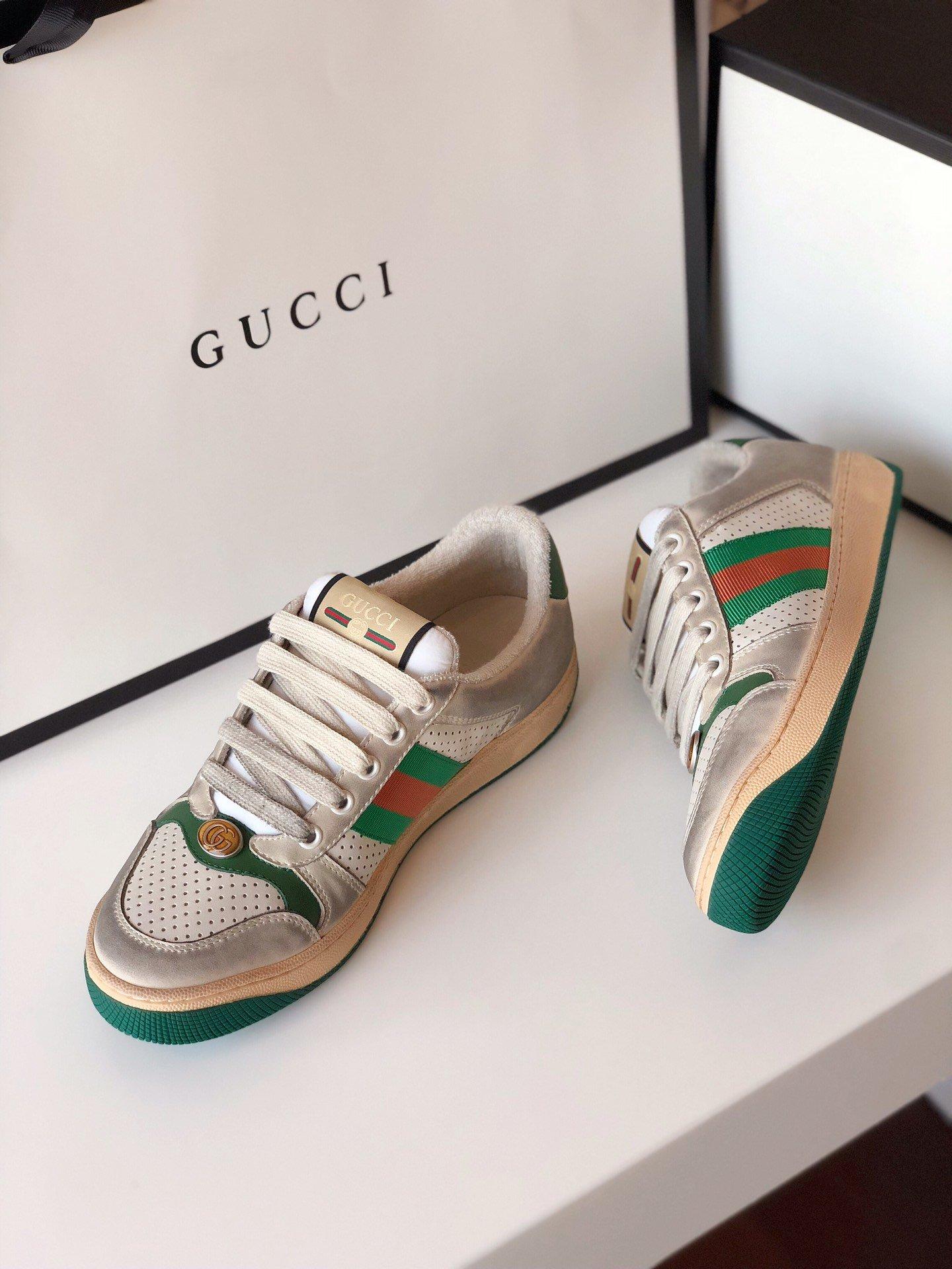 Gucci/Screener系列运动鞋代购版本 古琦系列做旧小脏鞋(图16)