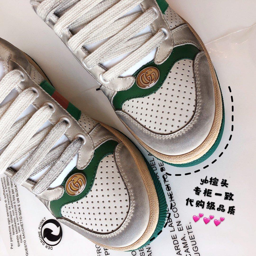 Gucci/Screener系列运动鞋代购版本 古琦系列做旧小脏鞋(图9)