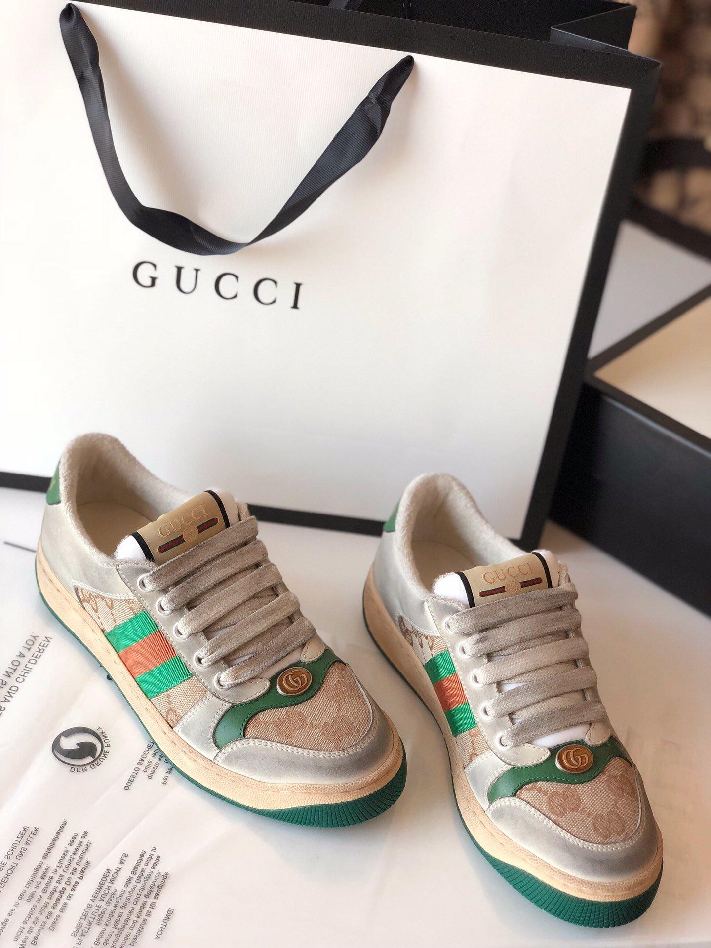 Gucci/Screener系列运动鞋代购版本 古琦系列做旧小脏鞋(图15)