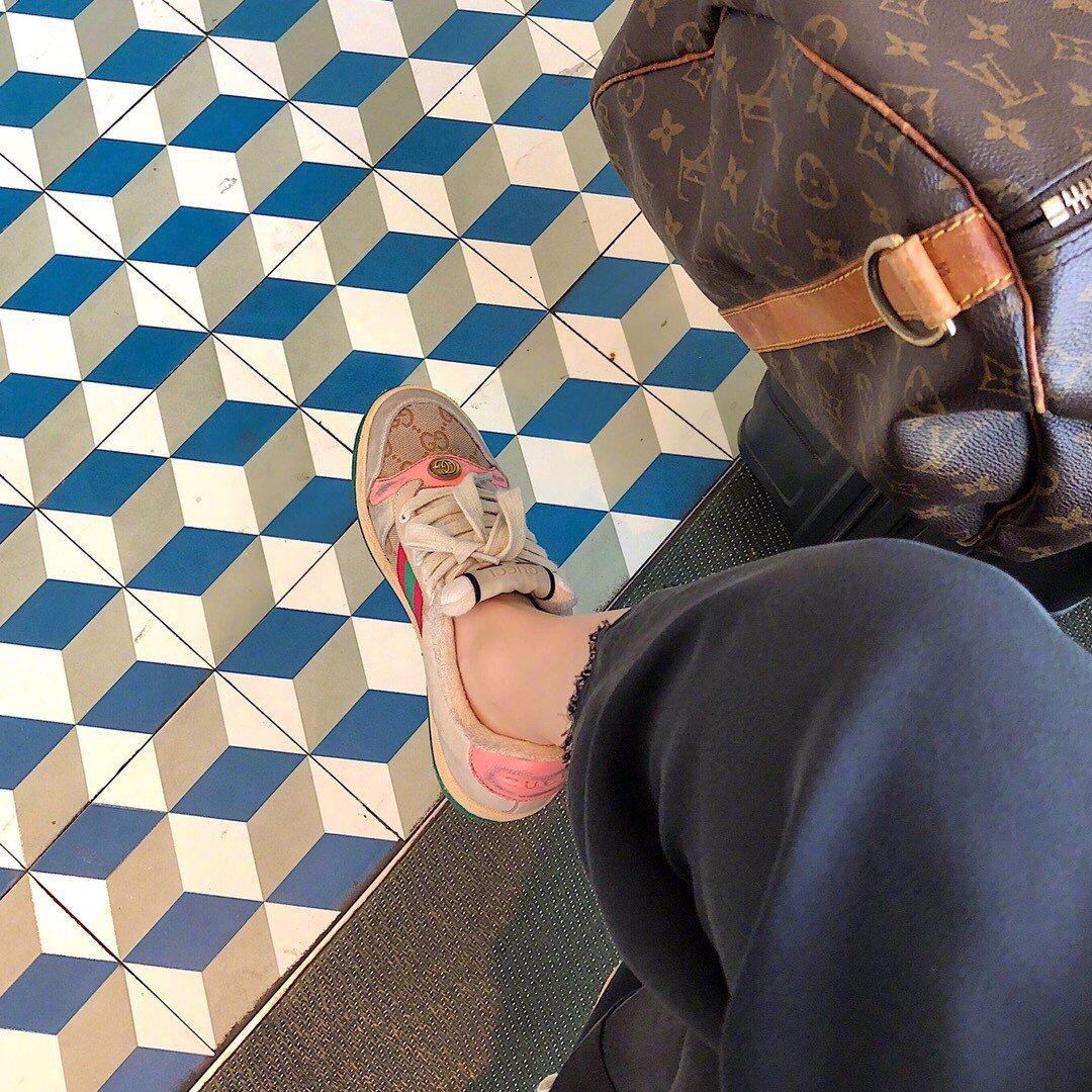 Gucci/Screener系列运动鞋代购版本 古琦系列做旧小脏鞋(图2)