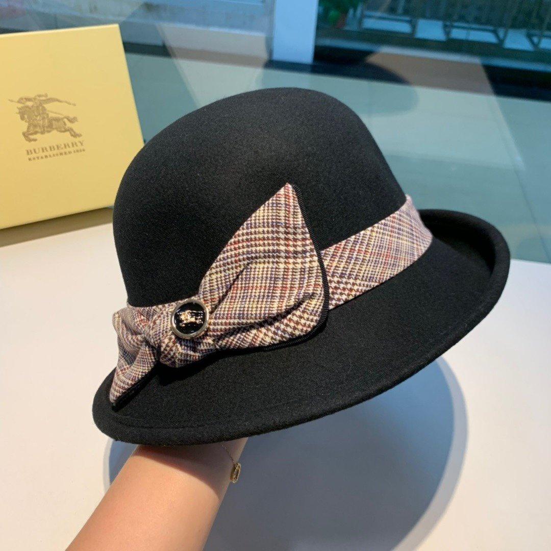 巴宝利Burberry新款不规则礼帽