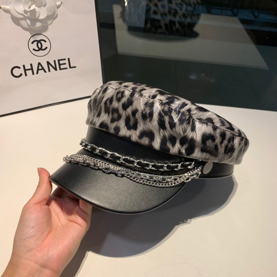 Chanel香奈儿超酷豹纹系列链条鸭