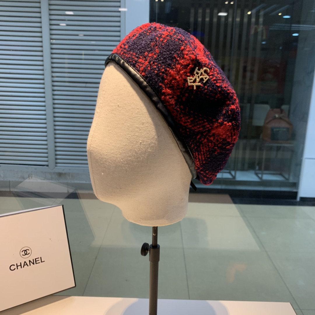 Chanel香奈儿贝雷帽经典小香风面