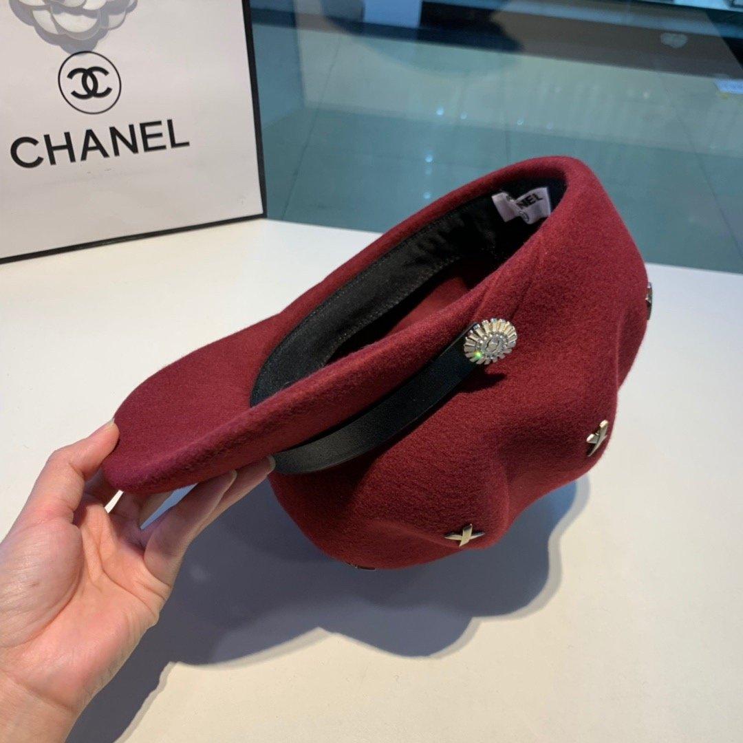 Chanel香奈儿八角帽羊毛南瓜帽国