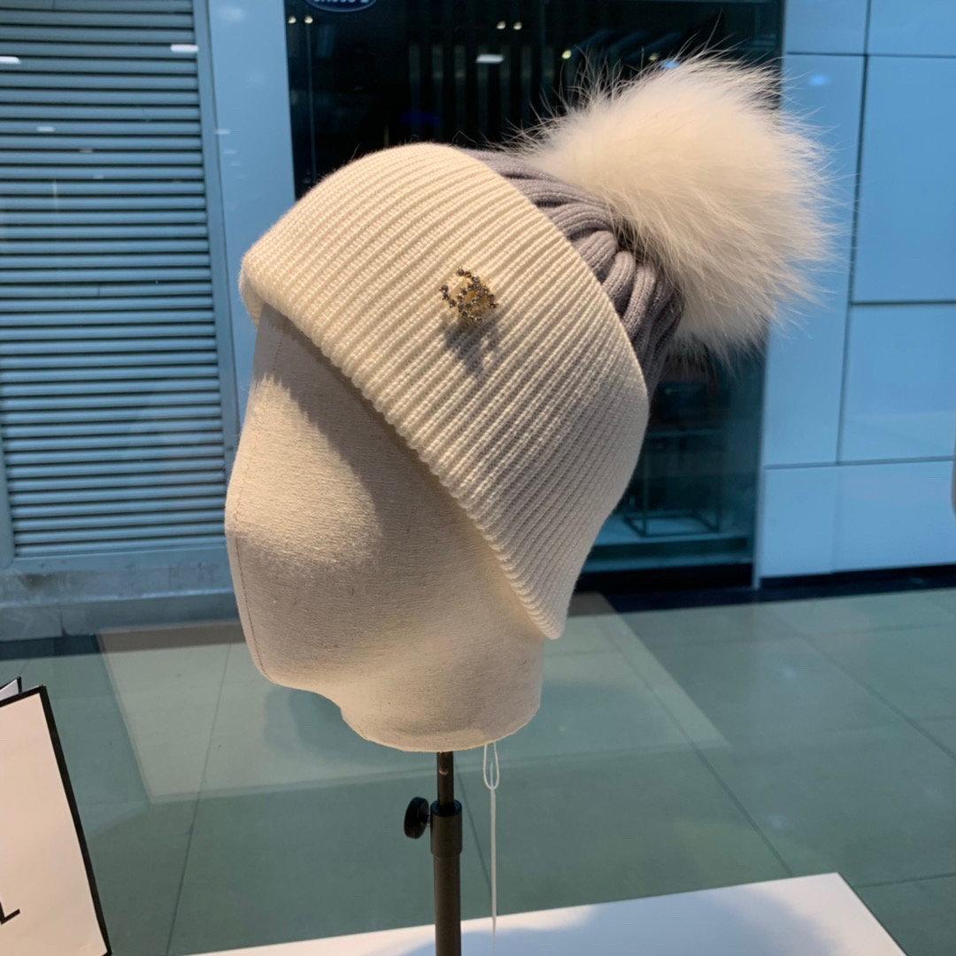 CHANEL香奈儿新款针织毛线帽超大