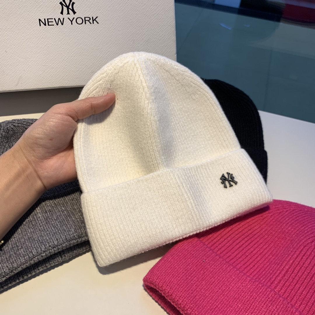 NY新款毛线帽细腻羊毛面料精致的NY