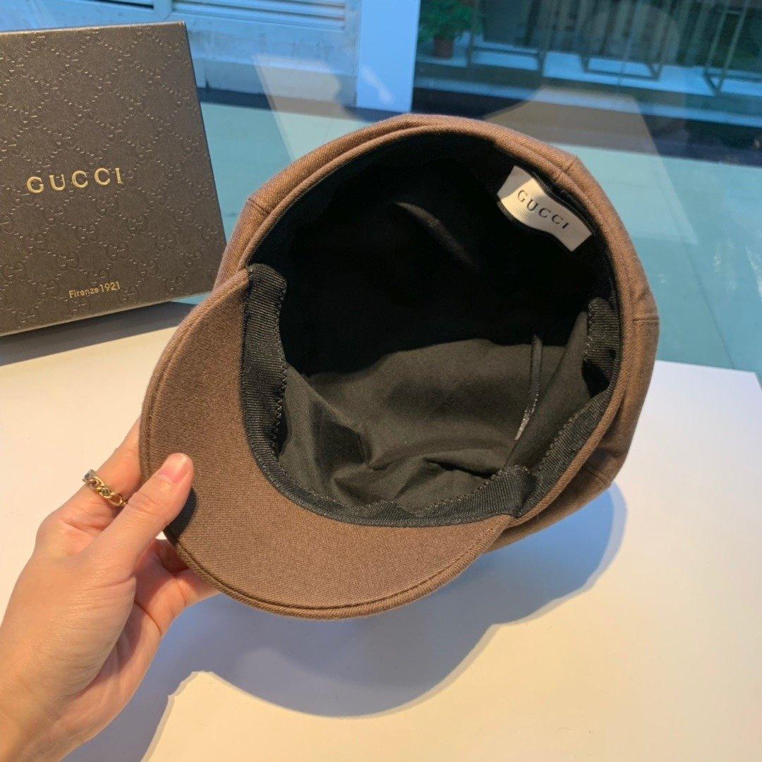 Gucci古奇画家帽秋季新款八角帽范