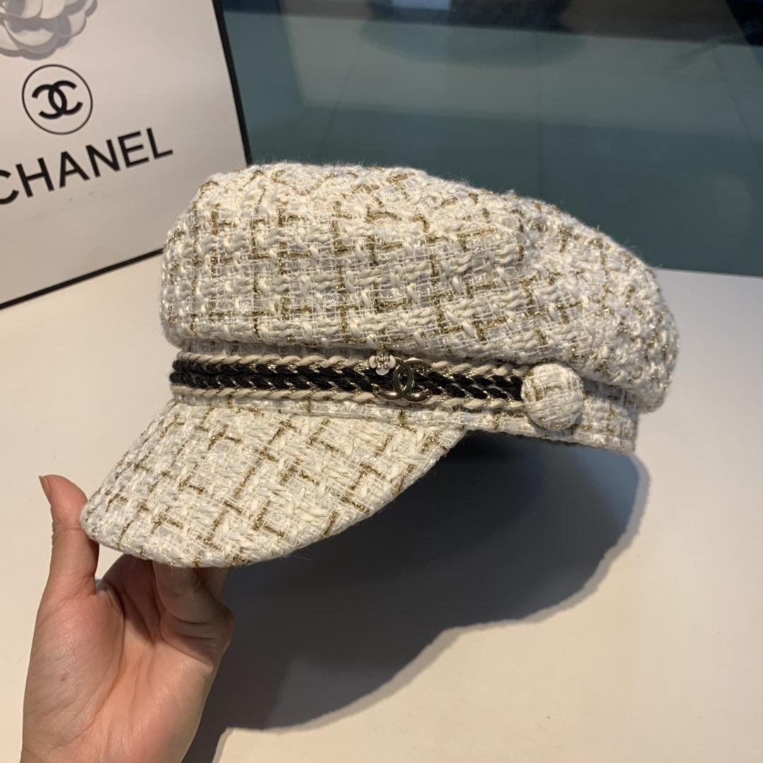 Chanel香奈儿新款鸭舌军帽欧洲走