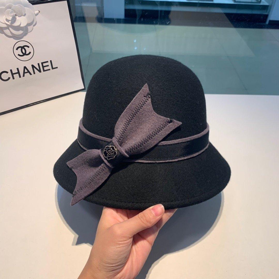 Chanel香奈儿新款不规则渔夫帽百