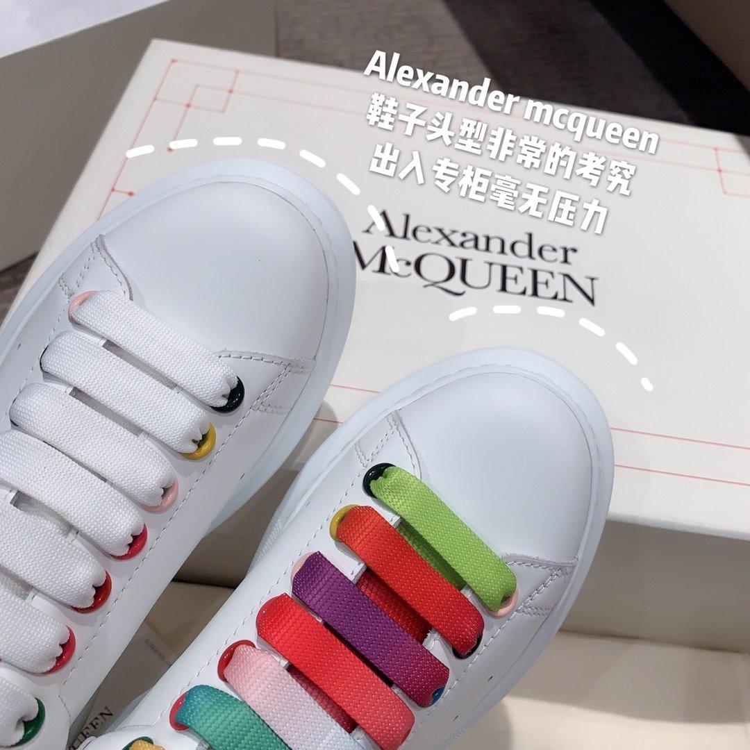 Alexander mcqueen全新升级 小白鞋疯 彩虹系列(图9)