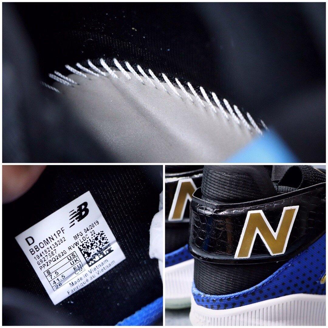 ?240双十二特价福利‼️新百伦 New Balance OMN1S Kawhi 2-Way Playoffs 卡哇伊 伦纳德 季后赛专属 蓝黑 冠军战靴出道即巅峰 NBA总冠军猛龙队FMVP科怀·伦纳德签名战靴。鞋面编织打造而成,辅以奢华的细节点缀,鞋帮处的鳄鱼纹彰显不凡质感。此外,OMN1S 篮球鞋采用了New Balance全新升级的FuelCell中底技术,拥有New Balance专业产品中最高的能量回弹性能。官方货号#BBOMN1PFPCSIZE:40 40.5 41.5 42 42.5 43 44 45