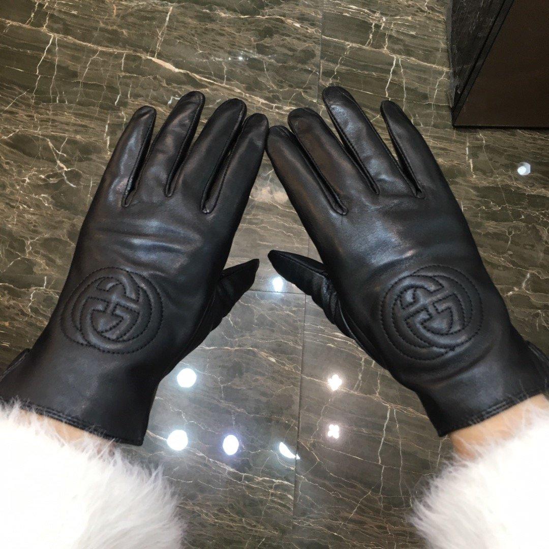 古驰GUCCI新款高档羊皮手套皮料手