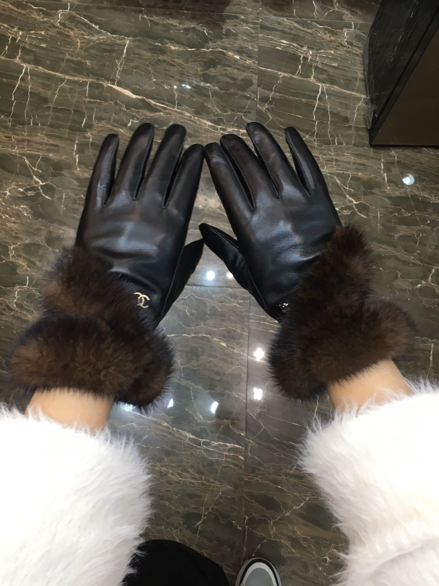 Chanel2019新款高档羊皮手套