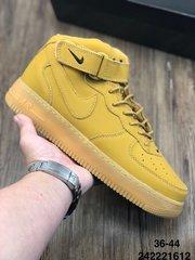 110真标半码耐克Nike小麦色耐克NikeAirForce1High07LV8Flax空军一号经典百搭板鞋麦黄216242221612