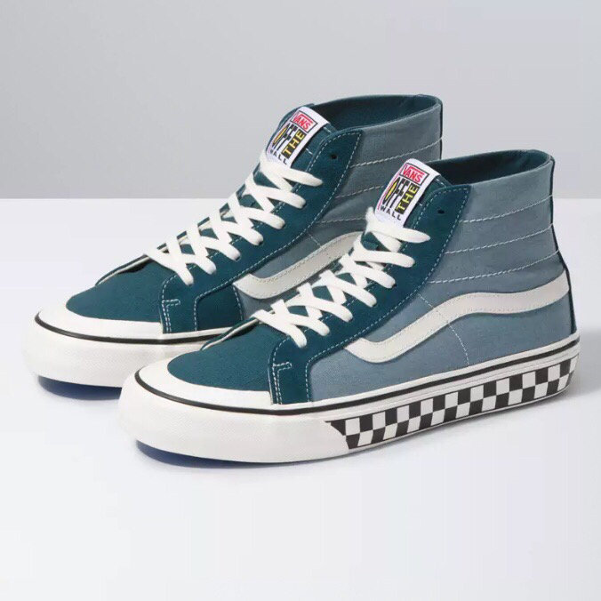 新款🎉🎉【新款到货】型号YY771VANS范斯男女鞋Style 36 SF蓝色低帮棋盘格休闲滑板鞋VN0A3MVLXPQ Size:35 一44带半码