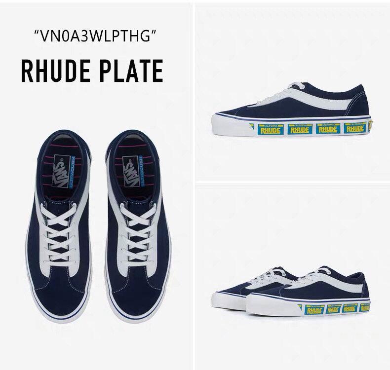 🌈230 Vans x RHUDE Bold Ni 联名款男串标                                黑色 蓝色 红色   三个配色  蓝色货号:桐31   休闲滑板鞋 码数35-44(含半码)