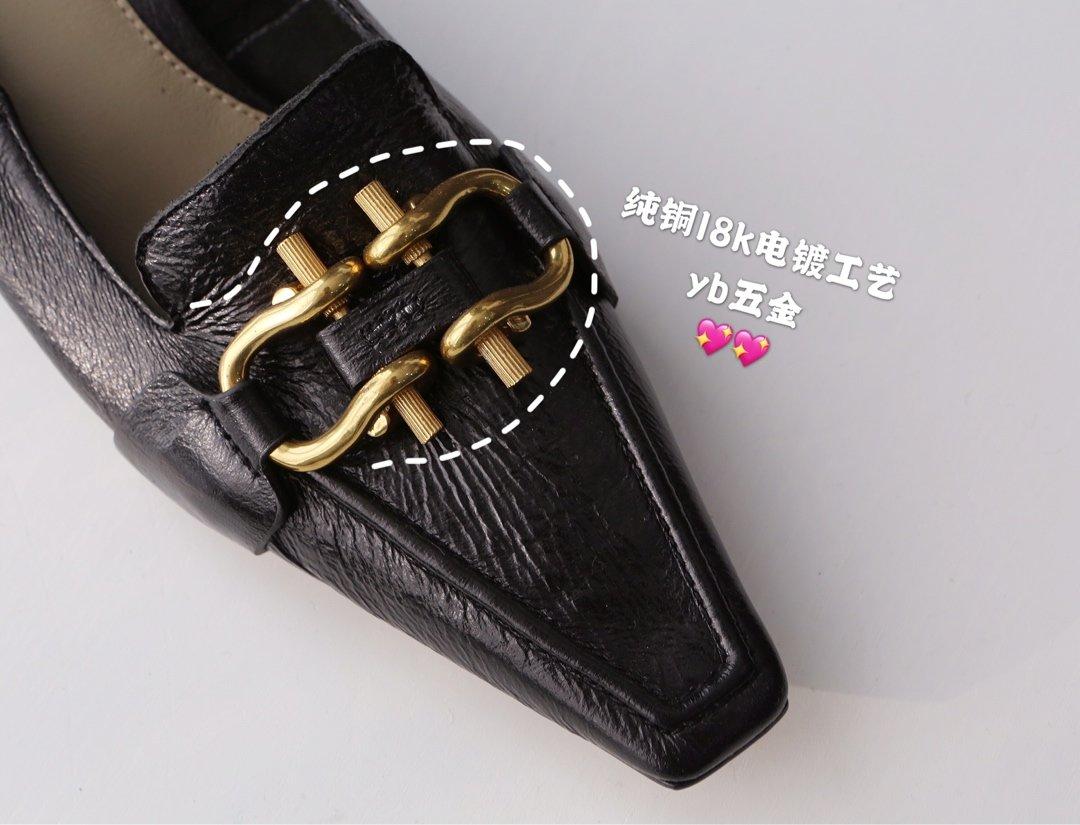 顶级BV MADAME 高跟单鞋 马衔扣配件中跟乐福鞋(图8)