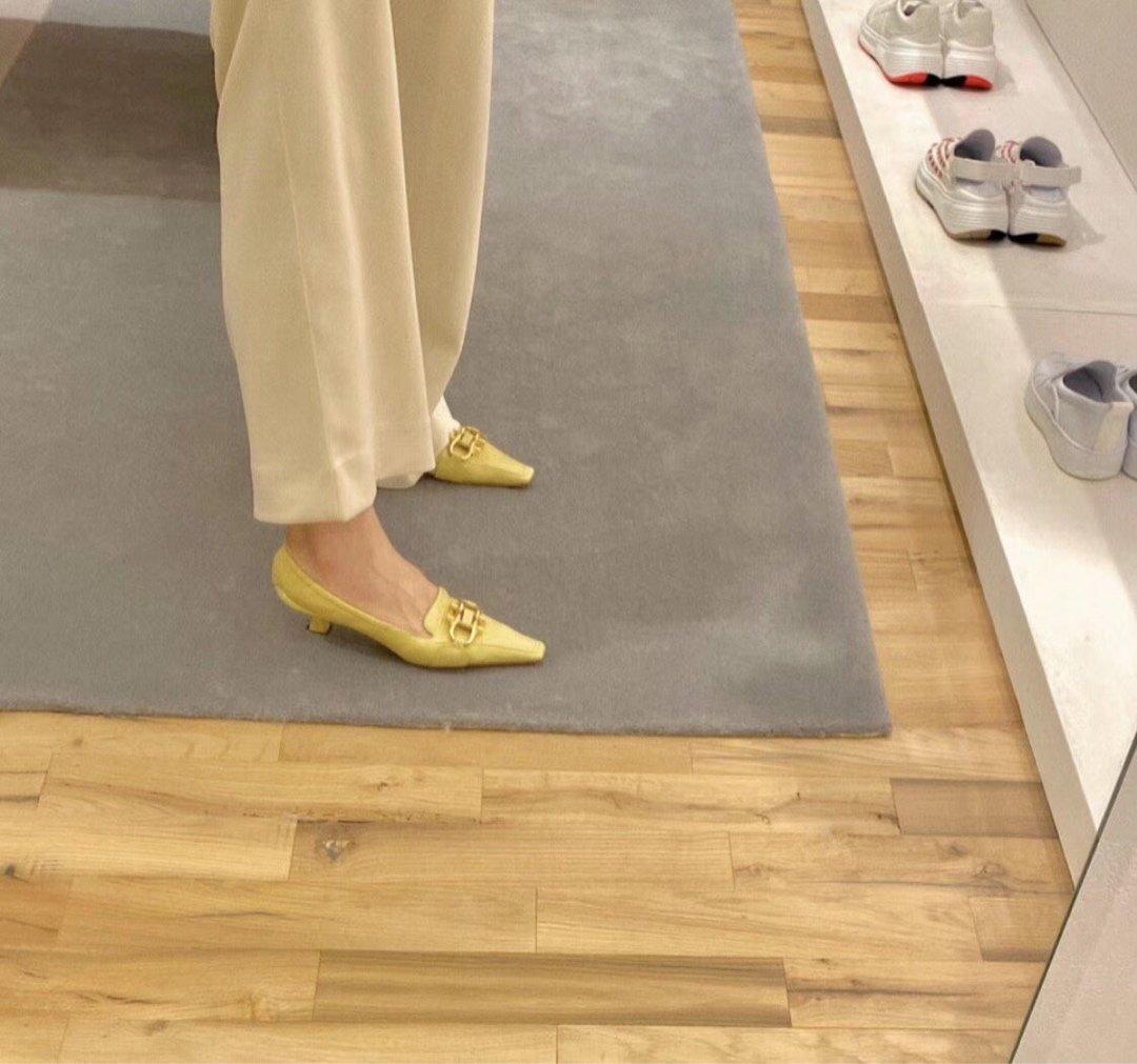 顶级BV MADAME 高跟单鞋 马衔扣配件中跟乐福鞋(图4)
