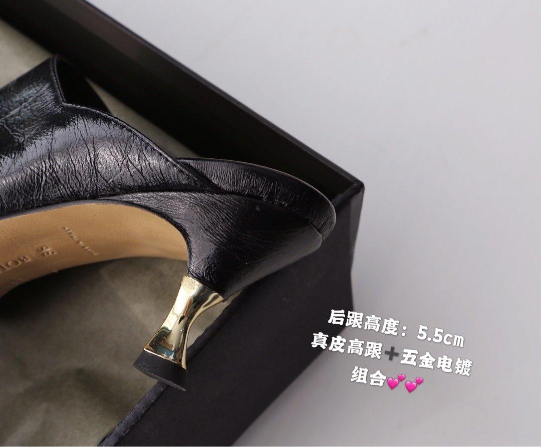 顶级BV 方头高跟半拖 异形跟鞋跟穆勒鞋(图5)
