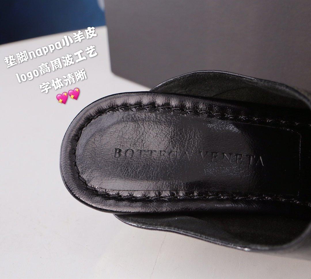 顶级BV 方头高跟半拖 异形跟鞋跟穆勒鞋(图7)