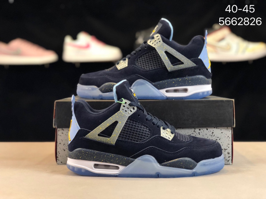 💰228Air Jordan 4 原盒真标原厂拼色真皮限定AJ4复古时尚球鞋!货号:5662826