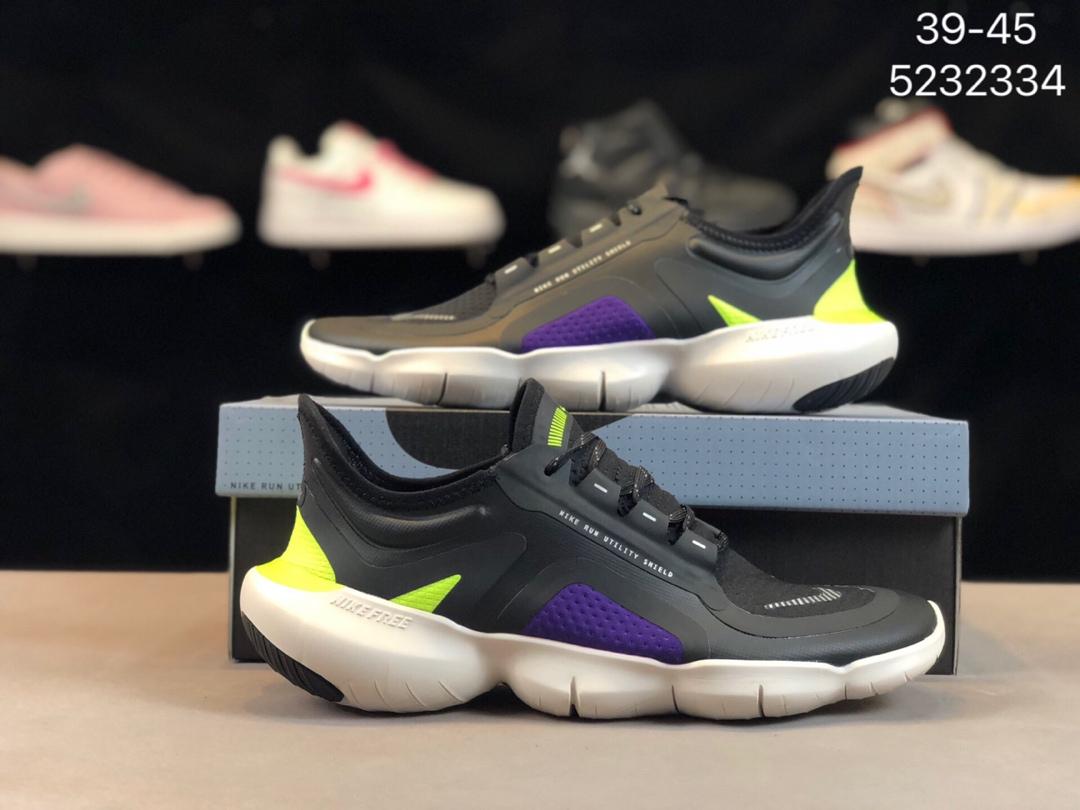 💰288公司级!带半码!Nike 耐克官方 NIKE FREE RN 5.0 SHIELD 休闲运动跑步鞋。Free 大底采用了前低后高的设计!货号:5232334