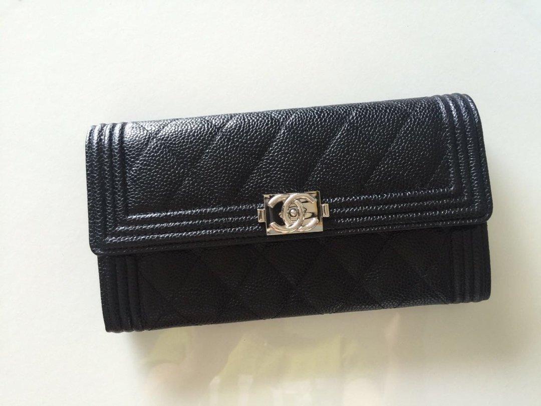 Chanel经典版本 细球纹皮两折 原单品质 (图1)