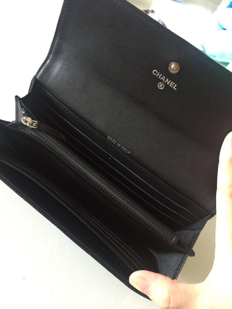 Chanel经典版本 细球纹皮两折 原单品质 (图4)