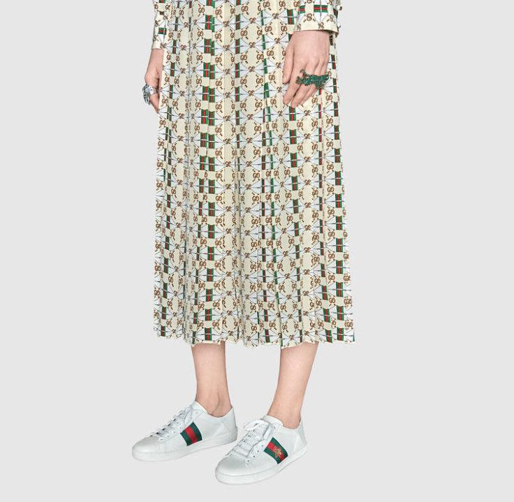 Gucci Ace Sneakers 代购级别苹果/小蜜蜂两穿脚踩小白鞋(图1)