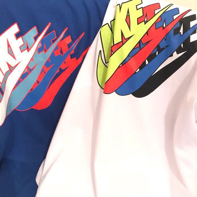 💰165耐克NIKE爆款独家设计胸前4色Logo字母印花情侣短袖海外很火的一款代购耐克短袖 经典的耐克LOGO搭配‼️独家设计的4色印花 🍕彰显个性 非常百搭 绝不容易撞款 个性又吸睛 男女情侣款 190克纯棉面料 质感很好 夏季上身舒适透气 🎏运动休闲两不误😎颜色:白色   蓝色尺码:M  L  XL  XXL码数  衣长 肩宽 胸围 M      67    48     107L       70    49     112XL    73     50     116XXL 75     51      120(尺码实物手工测量1-3cm误差)