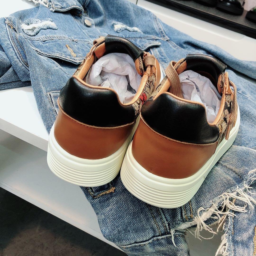 古奇Cucci经典棕色米奇板鞋(图5)