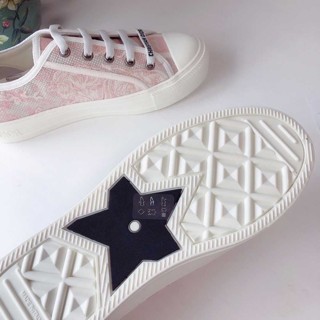 DIOR 2020 秀款板鞋 棉质TOILE DE JOUY 刺绣 WALKNDIOR 运动鞋(图10)