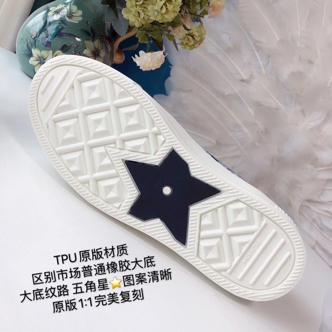 DIOR 2020 秀款板鞋 棉质TOILE DE JOUY 刺绣 WALKNDIOR 运动鞋(图16)