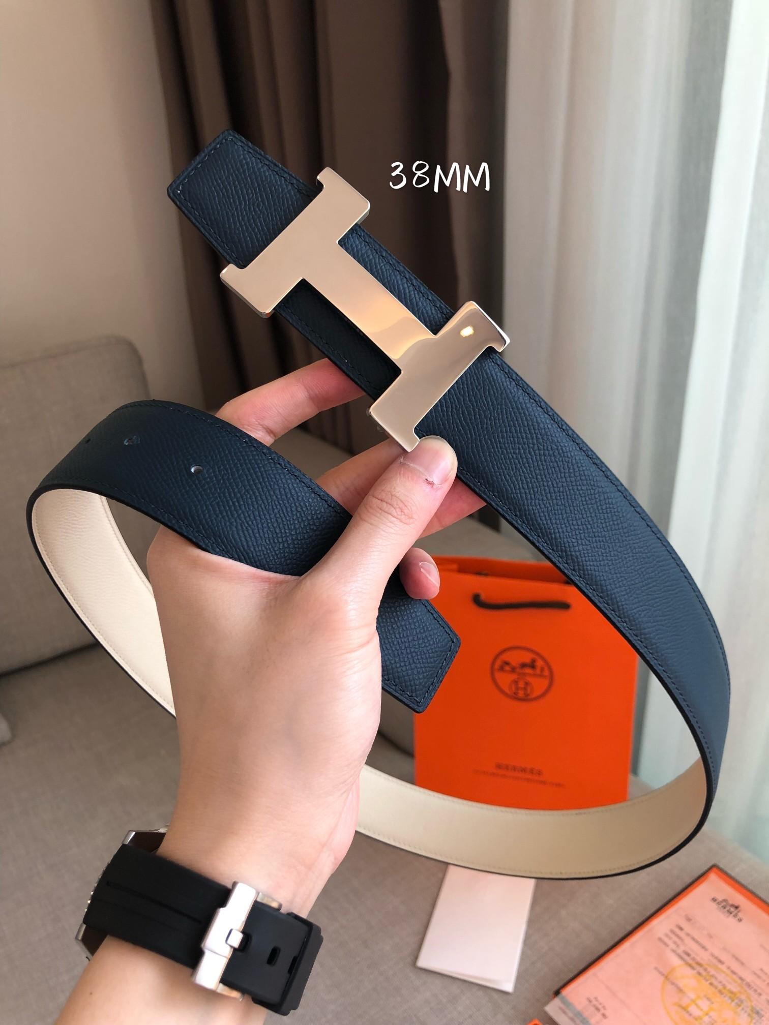 爱马仕Hermes官网同步进口原版皮双面腰带(图4)
