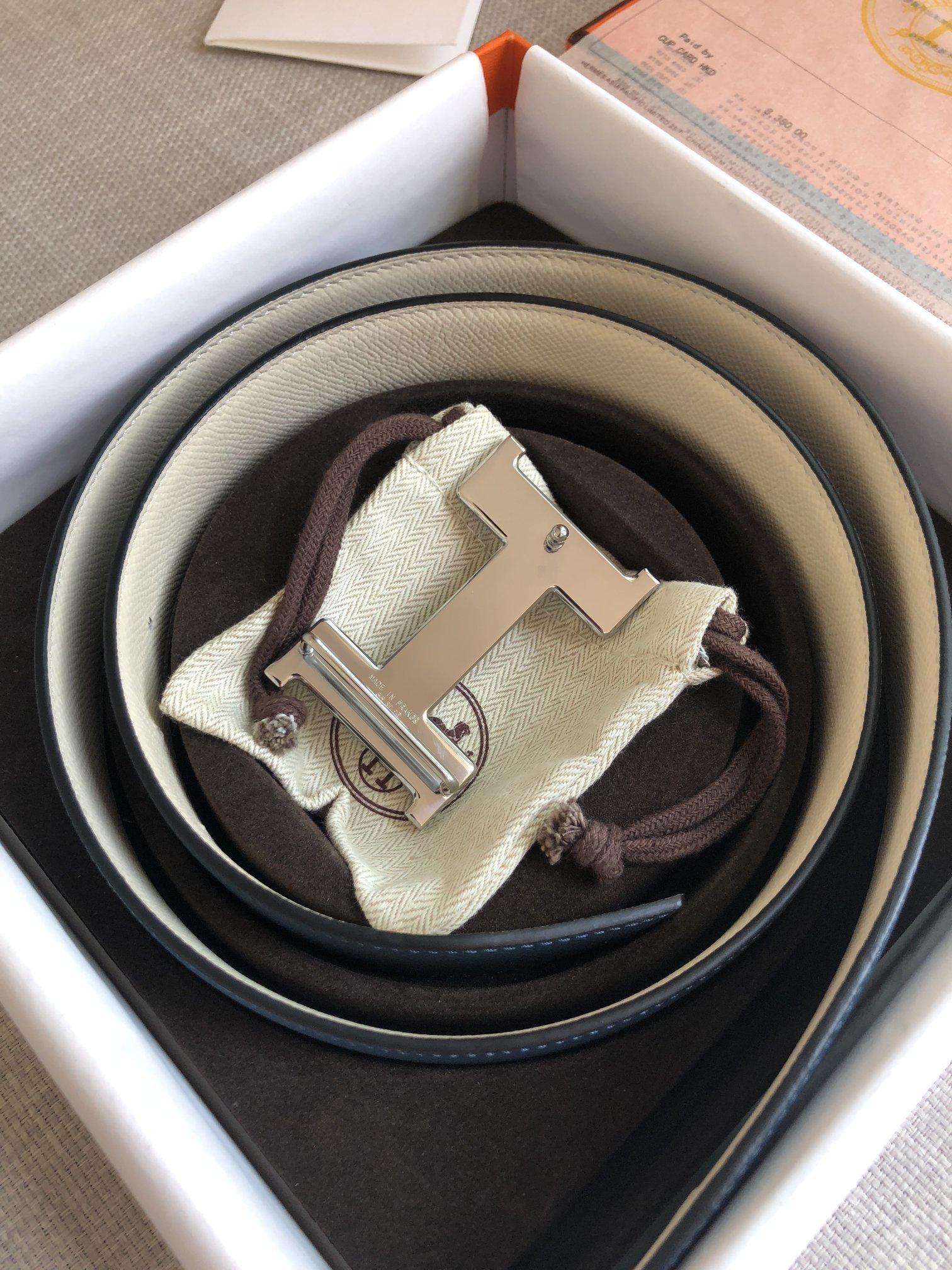 爱马仕Hermes官网同步进口原版皮双面腰带(图7)