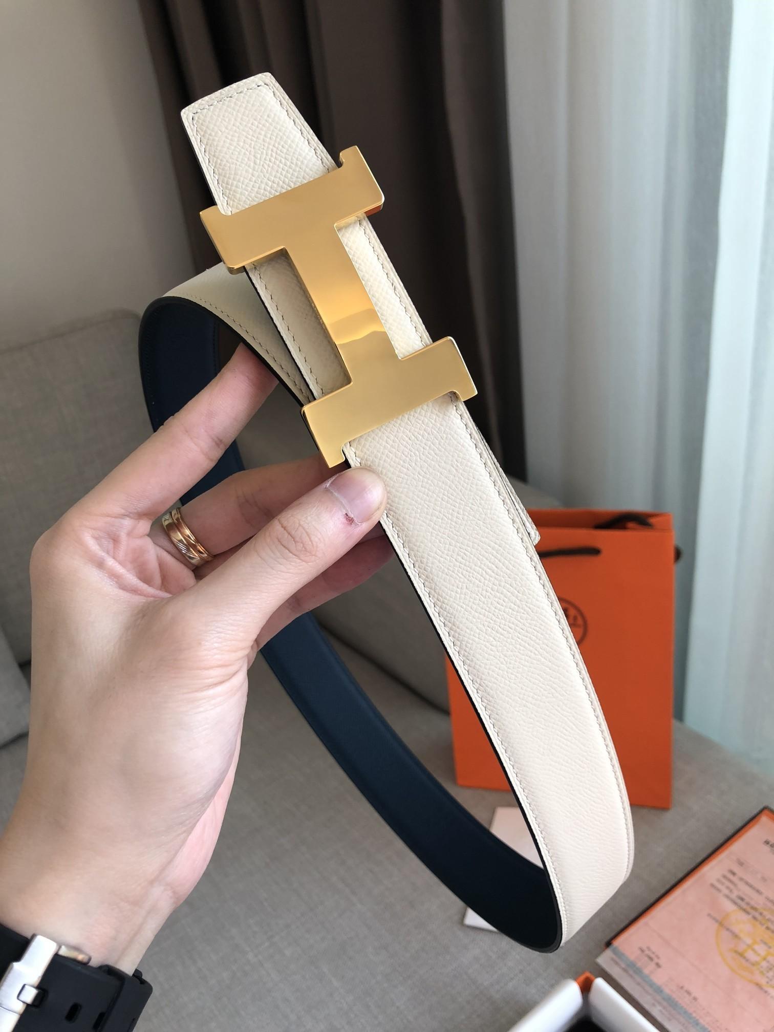 爱马仕Hermes官网同步进口原版皮双面腰带(图8)