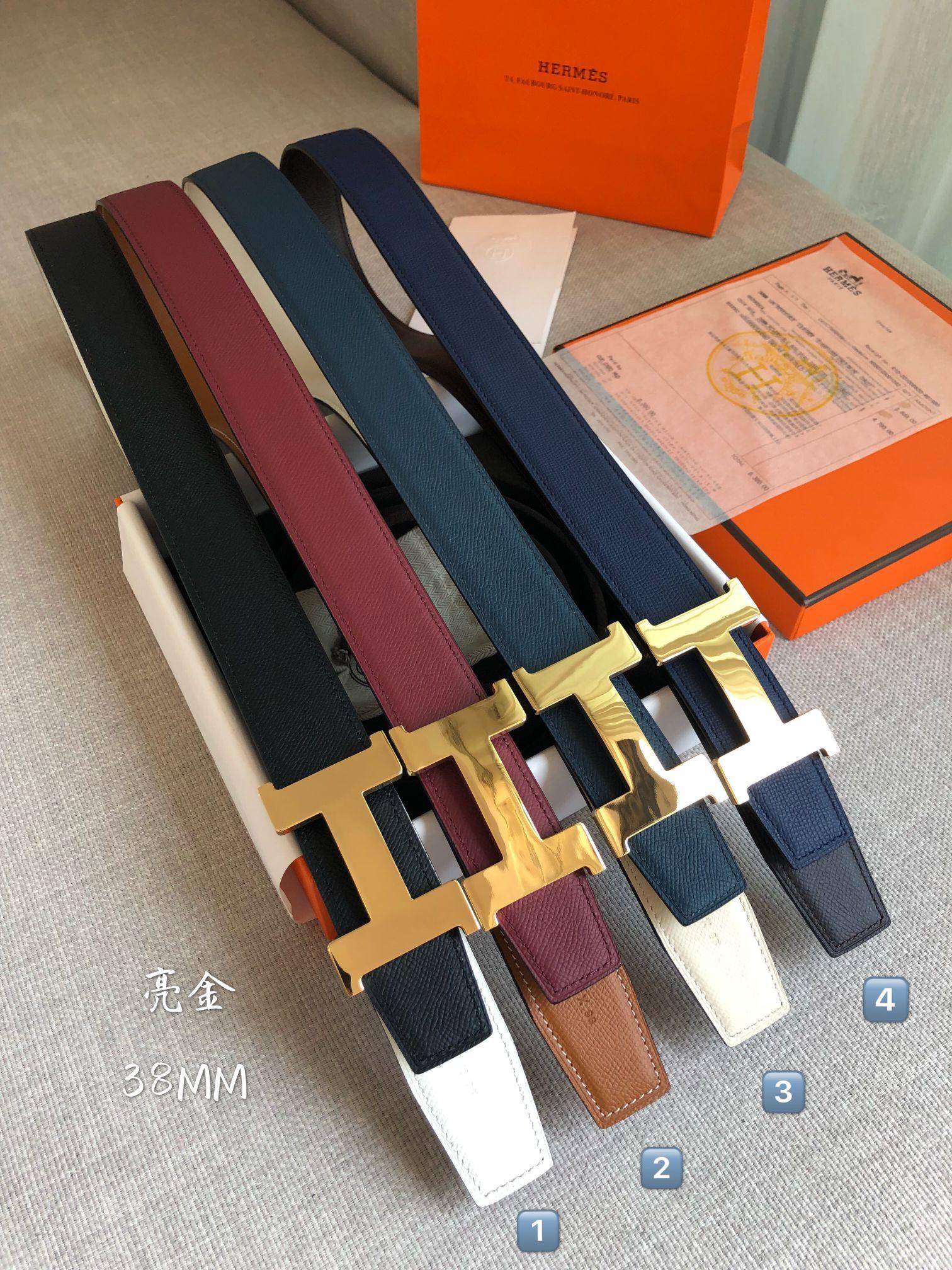 爱马仕Hermes官网同步进口原版皮双面腰带(图1)
