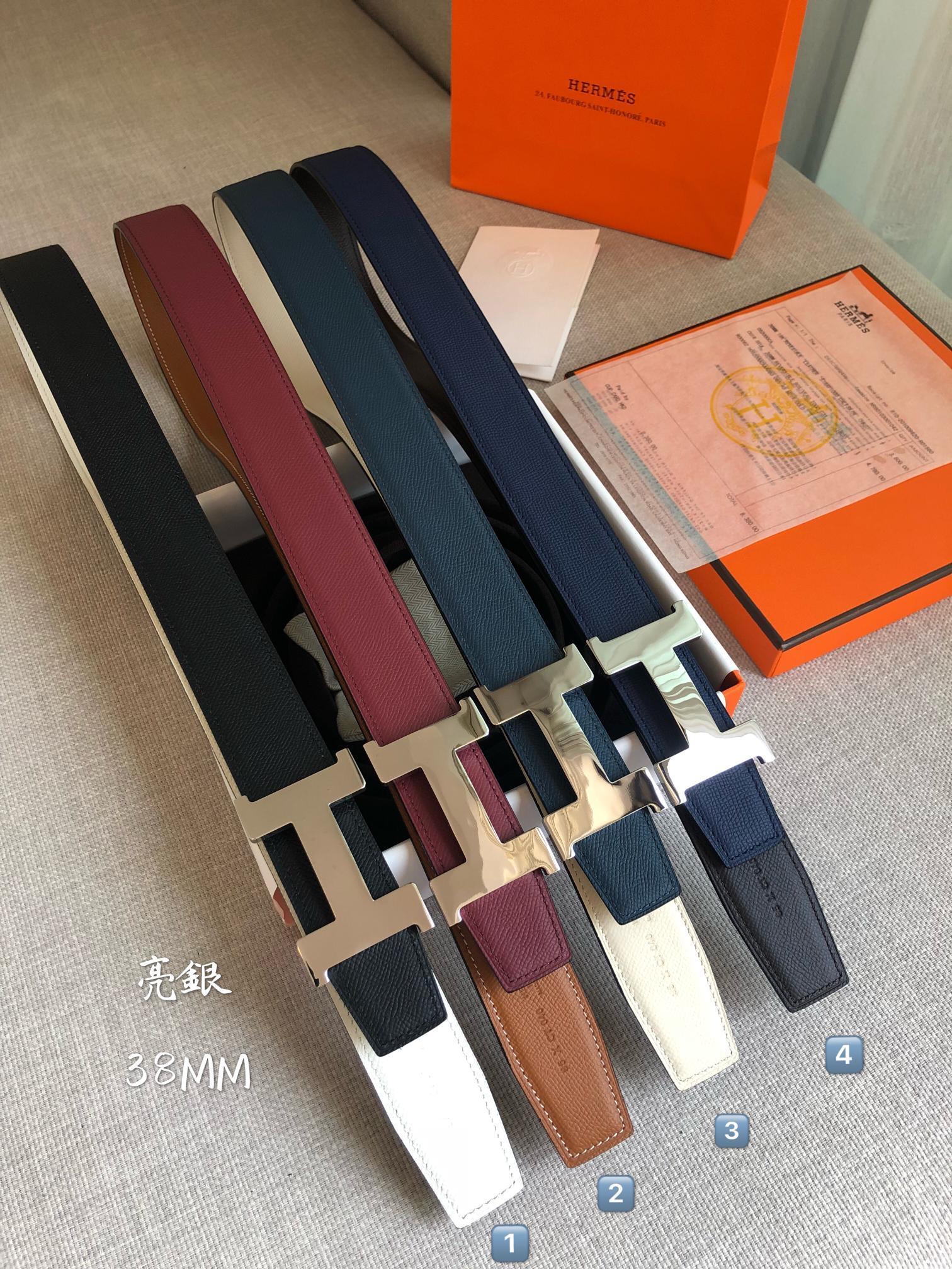 爱马仕Hermes官网同步进口原版皮双面腰带(图2)