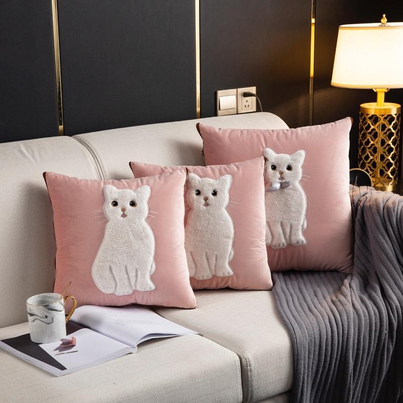 兔毛刺绣抱枕被 16款