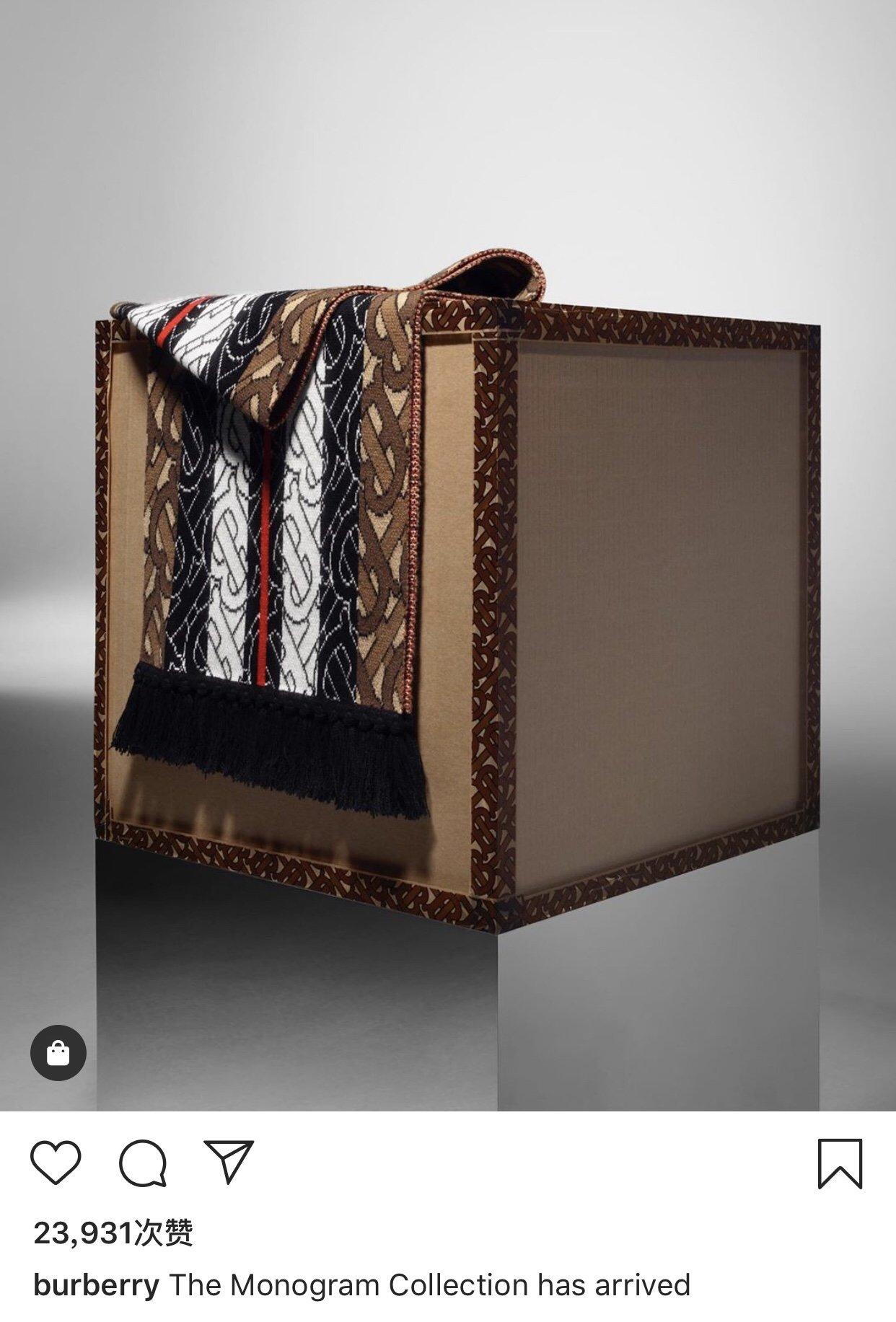 Burberry专属标识条纹羊绒围巾 (图2)