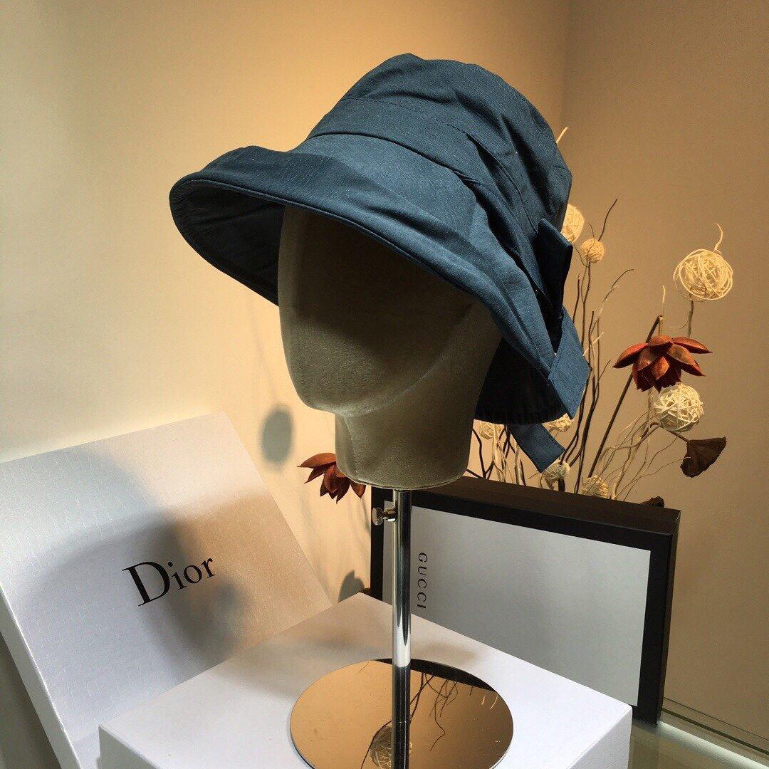 Chanel香奈儿蝴蝶结渔夫帽遮阳帽